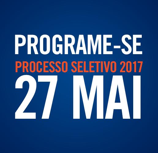 Programe-se Processo Seletivo 27 de maio 2017